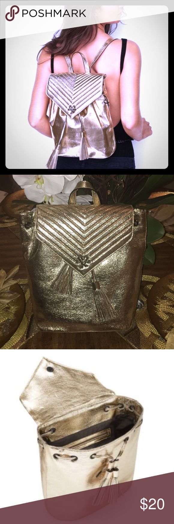 VICTORIA SECRET'S METALLIC BACKPACK Flirty and Fun Brand New ... Never Used!!! Victoria's Secret Bags Backpacks