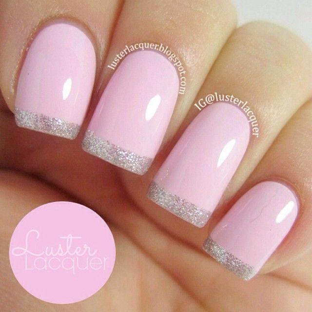 francesa rosa-plata purpurina