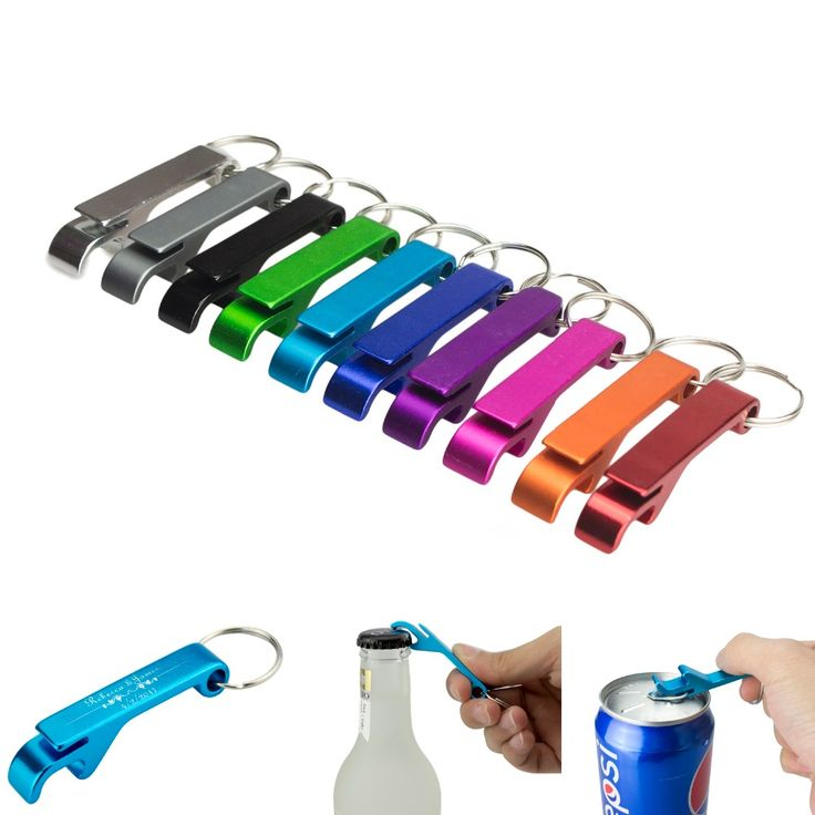 TEMLUM Wedding Favor Gifts Aluminum 4 in 1 Personalized Logo Beer Bottle Opener Keychain Pocket Beer Bottle Opener 10 Color