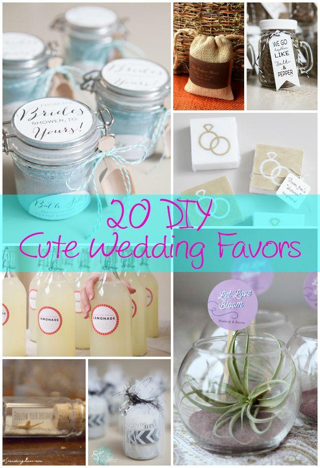 20 Diy Cute Wedding Favors