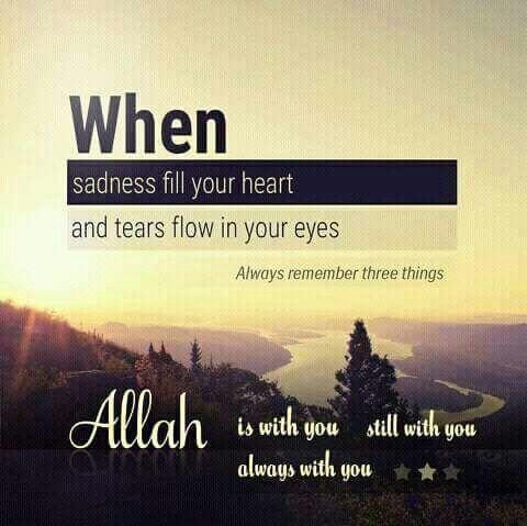 Allah is always thr f m ❤