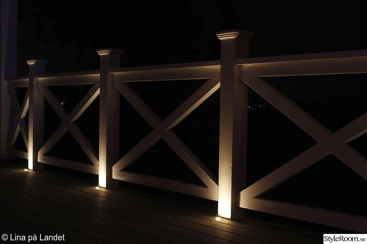 Love the lighting for evenings on the deck...