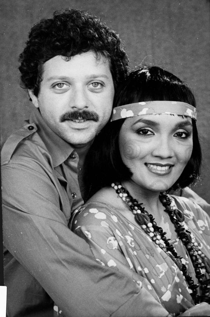 Orlando Urdaneta y Caridad Canelon en la telenovela de RCTV de los años 80s La Guajirita.