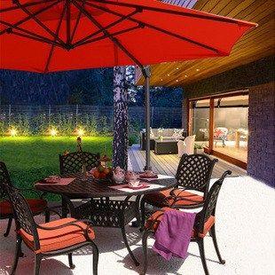 Уличная мебель патио, Кованая мебель люкс балкон стулья ресторан столы и стулья