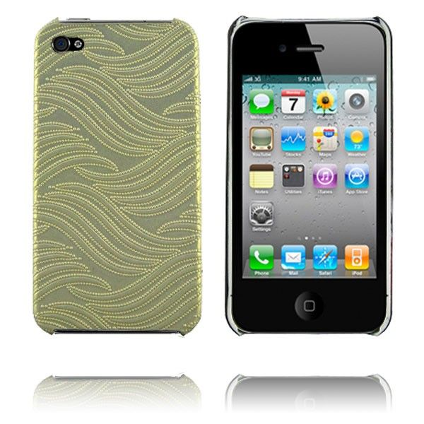 Wave (Hvit) iPhone 4 Deksel