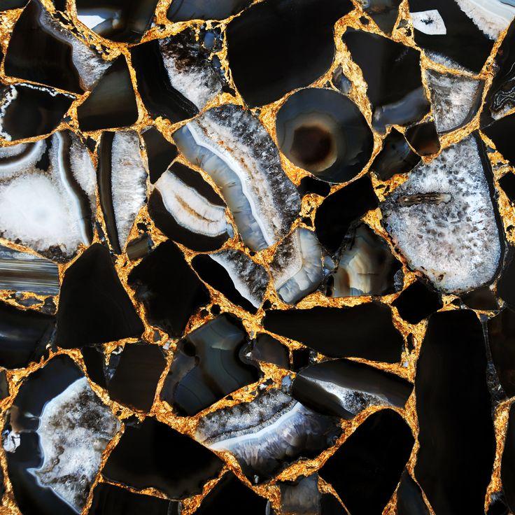Agate Umbra with gold #semipreciousstones