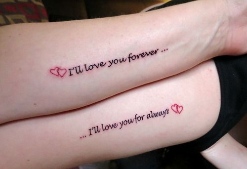 I think I would like to get that tattoo with my mom..