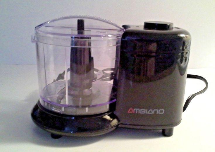 Ambiano mini food chopper 100w 15 cups capacity black