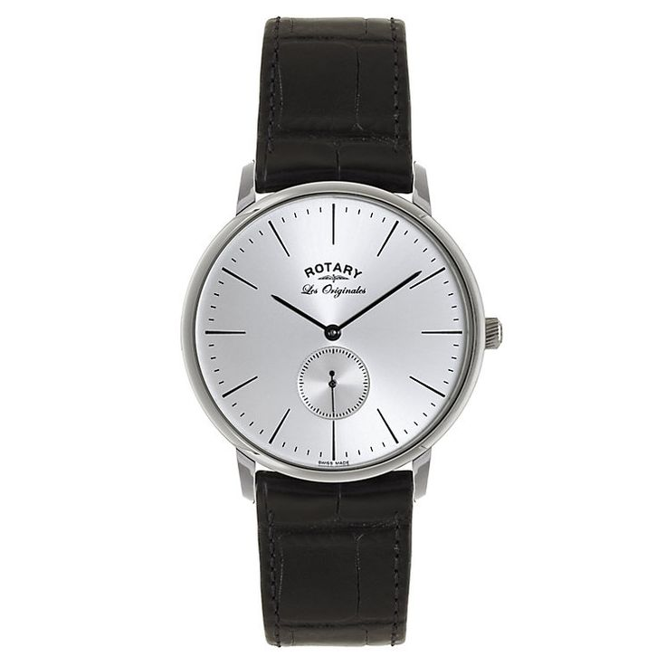 Rotary Men's Silver Dial & Brown Leather Strap Watch £199