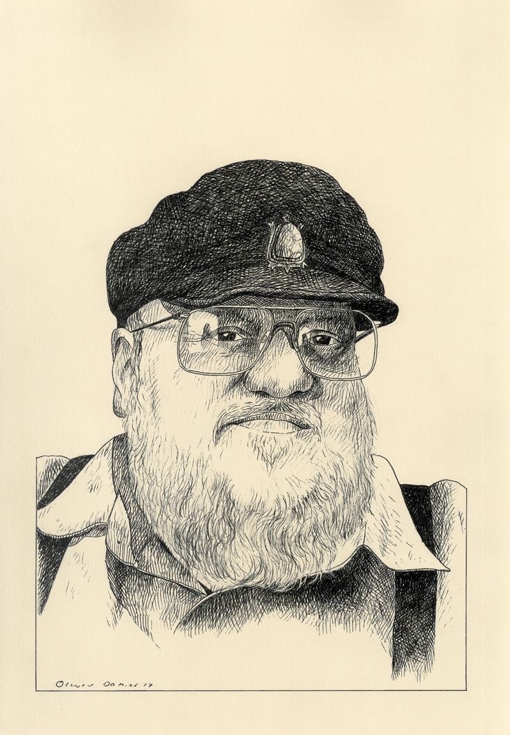 portrait of George R.R. Martin