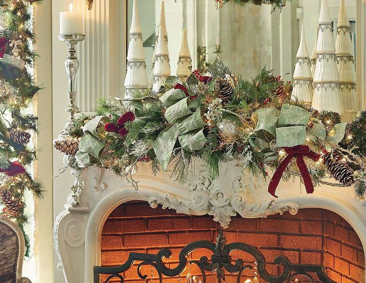 The answer for instant cheer on doors, mantels, staircases, and tabletops.: Idea, Christmastim