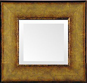 Italian Soft Gold Transitional Mirror — small transitional mirrors, made in usa by museum facsimiles  #transitional_mirrors   #small_mirrors