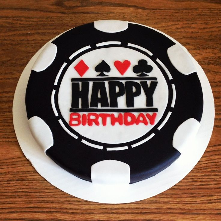 Love this cake for a casino themed birthday party ... Poker Chip Cake