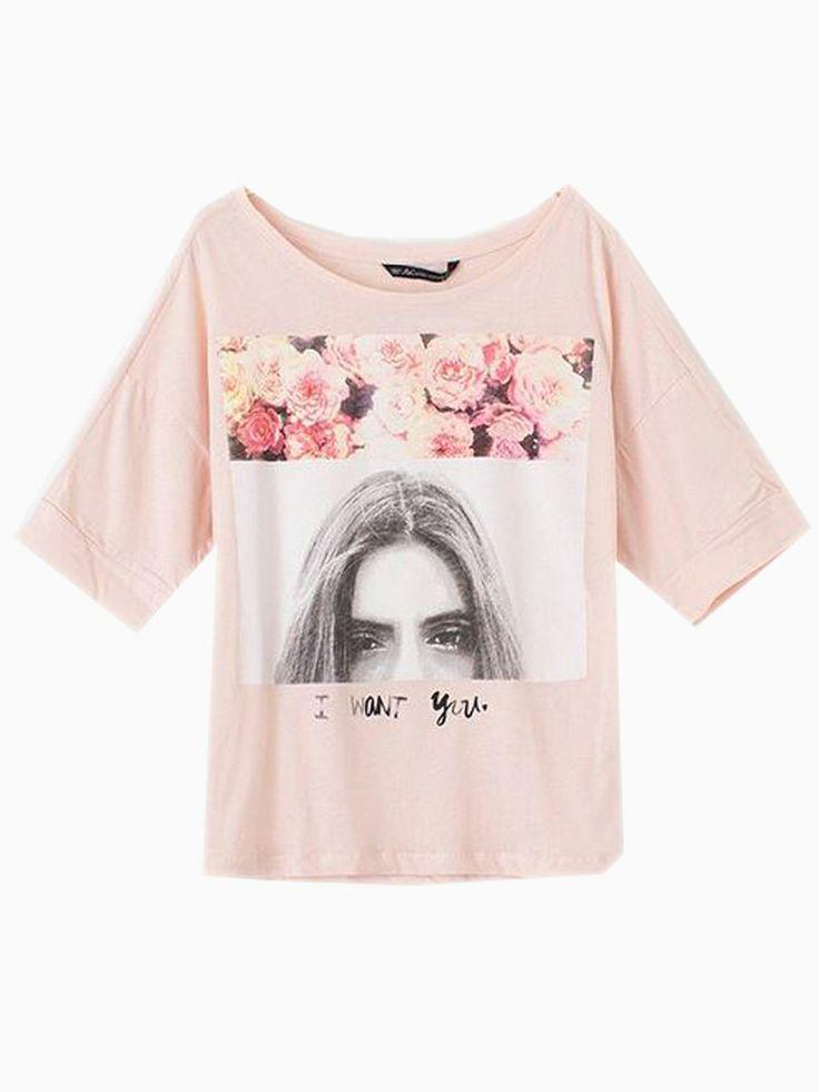 Pink Girl Eyes Print T-shirt | ChoiesFree Ships, Girls Generation, Pink Girls, Shops Pink, Print T Shirts, Girls Eye, Eye Prints, Prints Tshirt, Prints T Shirts