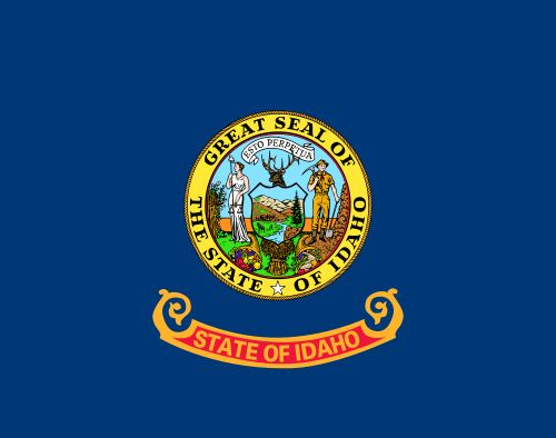 The state flag of Idaho.