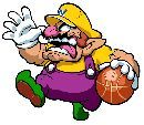 #Wario taunting his opponents during a game of #basketball  More Wario pics http://www.superluigibros.com/wario-pictures