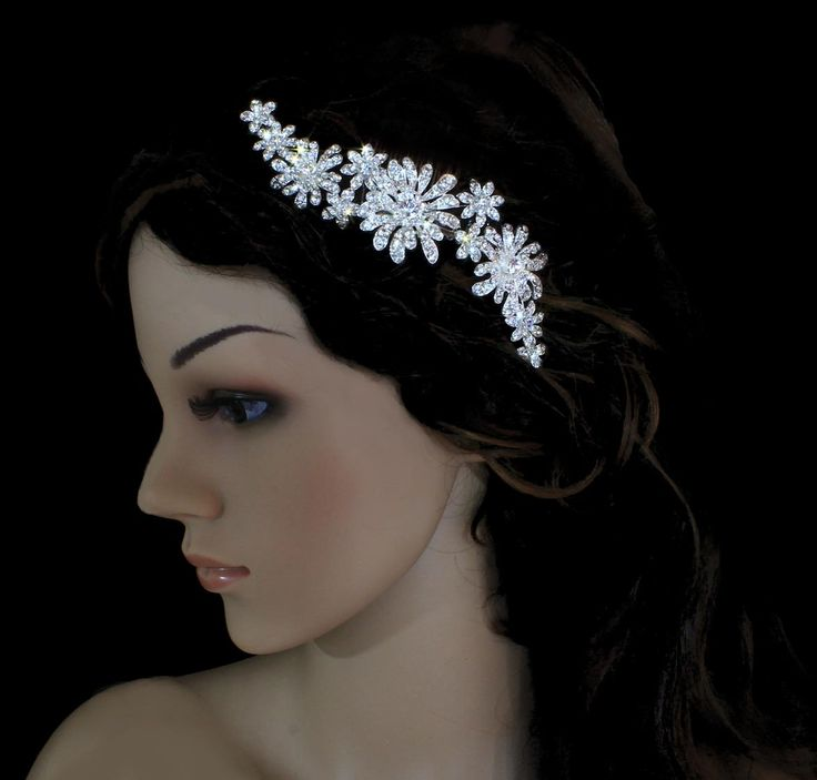Rhinestone Mum Floral Bridal Comb CombBudget WeddingWedding PlanningVeilsTiarasHair AccessoriesBridal