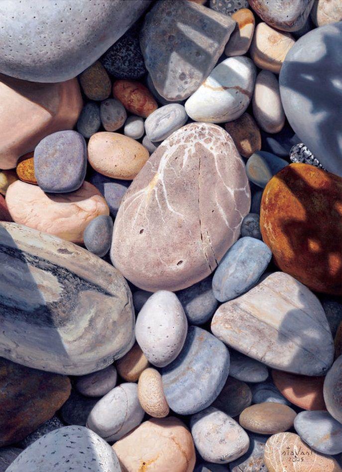 stones, oil on canvas, by Stephen Stavast.