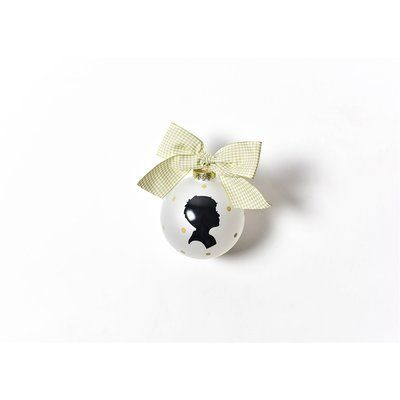 Coton Colors Boy Silhouette Glass Ball Ornament