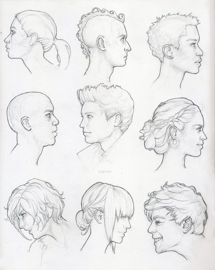 image result for head profile reference art drawing pinterest