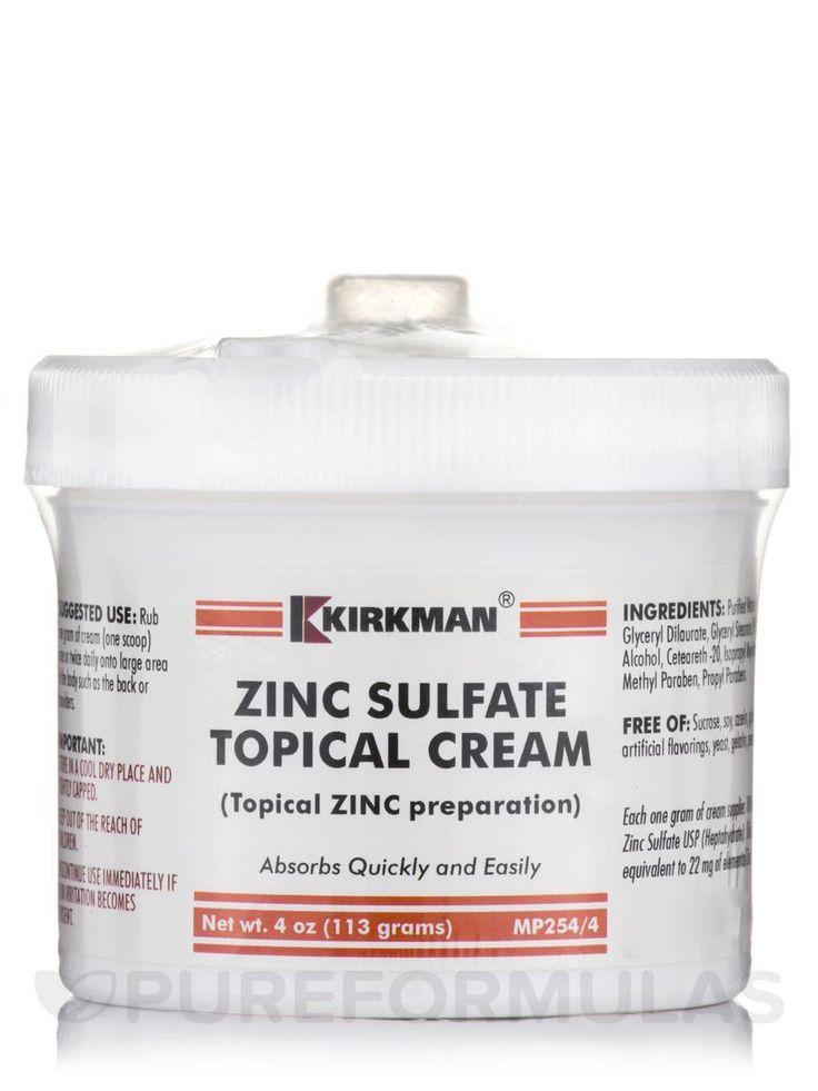 Zinc Sulfate Topical Cream - 4 oz (113 Grams)