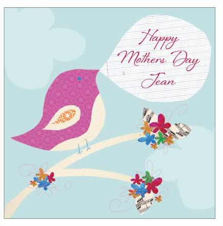 Tweetie Bird personalised mothers day card