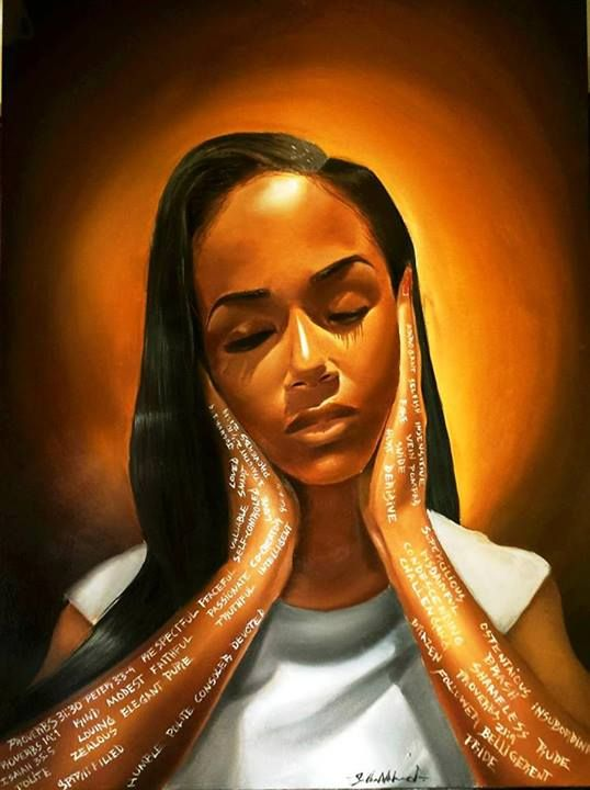 Black Woman Painting WallDevil