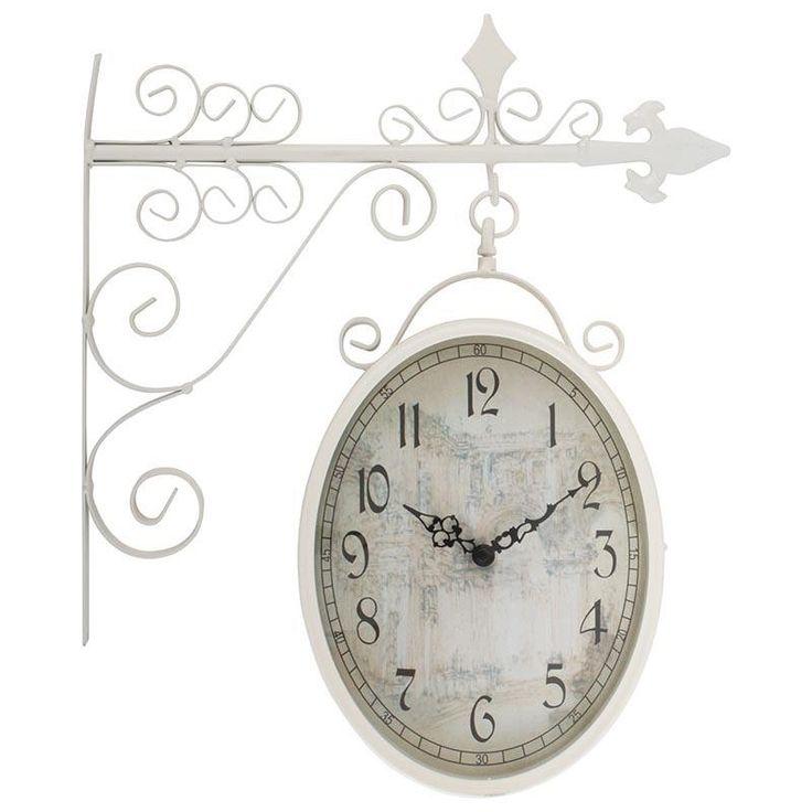Ρολόι Τοίχου Σταθμού Romantic -Λευκό http://www.lovedeco.gr/p.Roloi-Toichou-Stathmoy-Romantic-Leyko.908623.html