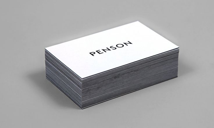 Penson Group business cards and brand identity designed by She Was Only
