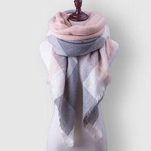 Za Plaid Vrouwen Sjaal Warm Winter Sjaal Voor vrouwen Deken Sjaals Zachte Kasjmier Sjaal Sjaals Grote Luxe Merk Gratis verzending(China (Mainland))