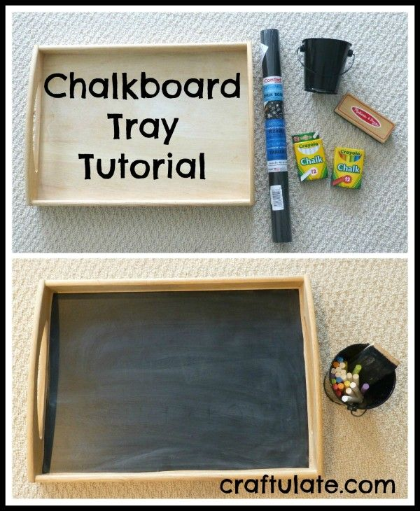 Chalkboard Tray Tutorial Craft Activities For Kids Crafts Diy Chalkboard
