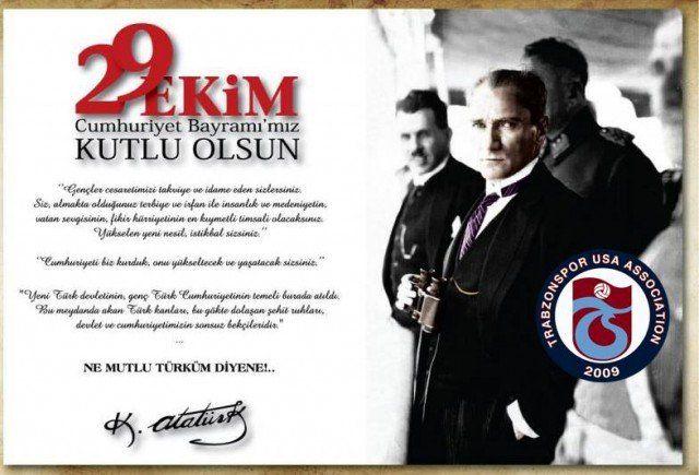 TrabzonsporUSA 29 Ekim Cumhuriyet Bayramı Mesajı