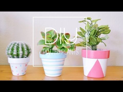 DIY Painted Plant Pots - YouTube