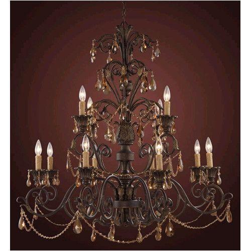 Elk Lighting Trump Home Rochelle 12 Light Candle Chandelier