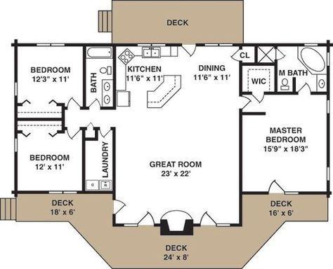Simple cottage plan by MyohoDane