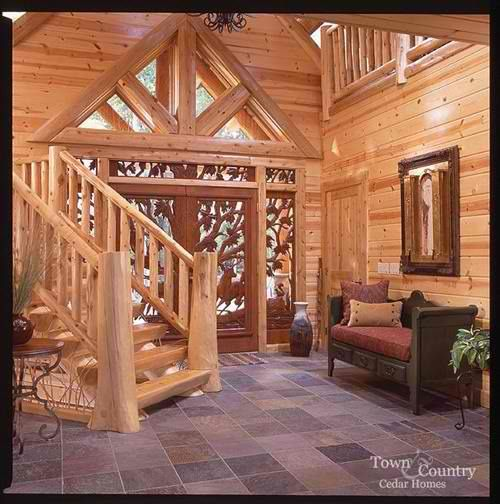 Log Cabin Interiors Photo Gallery | Michigan Cedar Products