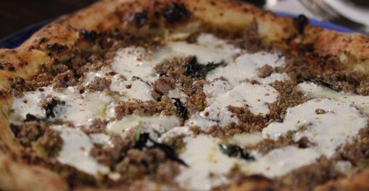 Pistachio and Sausage Pizza