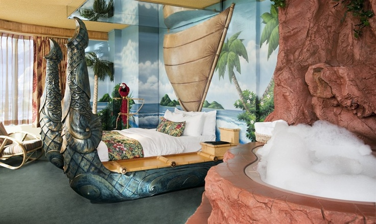 HOTEL - West Edmonton Mall; another of their fantasy-themed rooms. Sure wish I could have afforded to stay there!