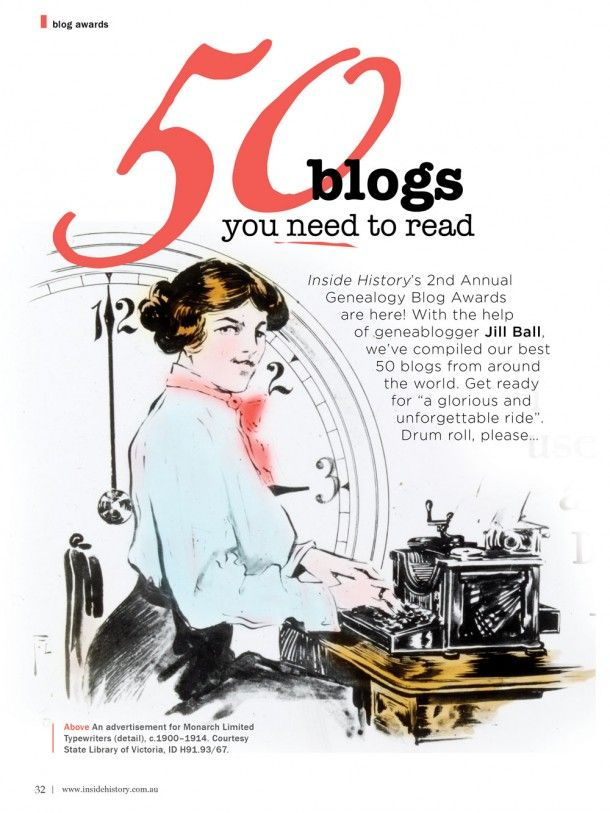 50 Blogs about Family History!!!!!!