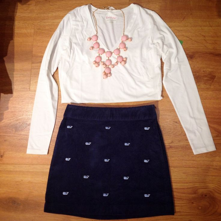New Vineyard Vines corduroy skirt available in store!