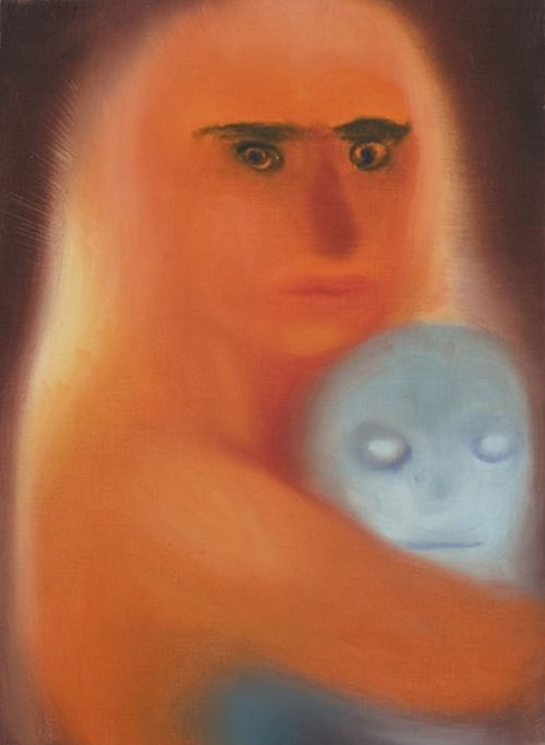Miriam Cahn, Mother Love, 1998 oil on canva