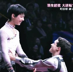 "vamprose69: "" Javier Fernandez & Yuzuru Hanyu Romeo & Juliet "" My dream came true ;___; See! I told you he is Juliet! Btw this broke my brain. I thought they would kiss.."