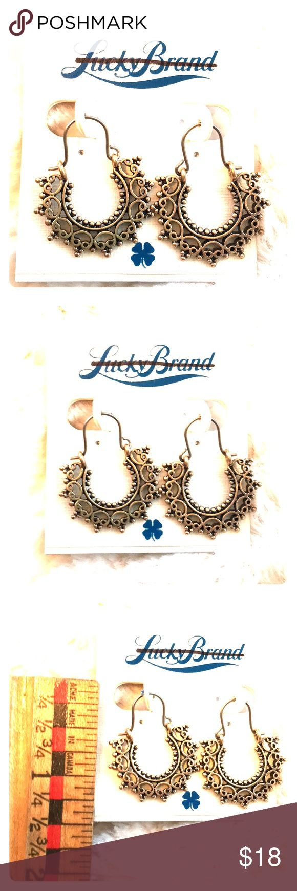 Lucky Brand Delicate India Sunshine Boho Hoops Store overstock; New with tags; Lucky Brand Delicate India Sunshine Boho Hoops Lucky Brand Jewelry Earrings