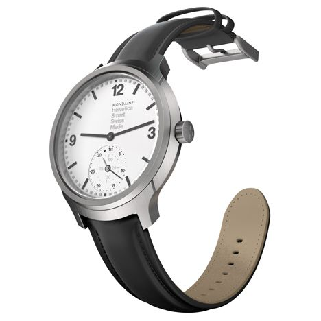 Mondaine claims the Helevetica No 1 Smart, a smartwatch with an analogue face, is first to combine traditional Swiss watchmaking with connected technologies
