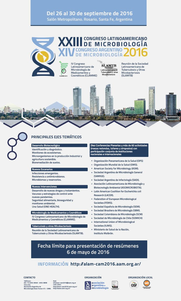 Mail newsletter for the Congreso Latinoamericano de Microbiologia 2016. Made by me.