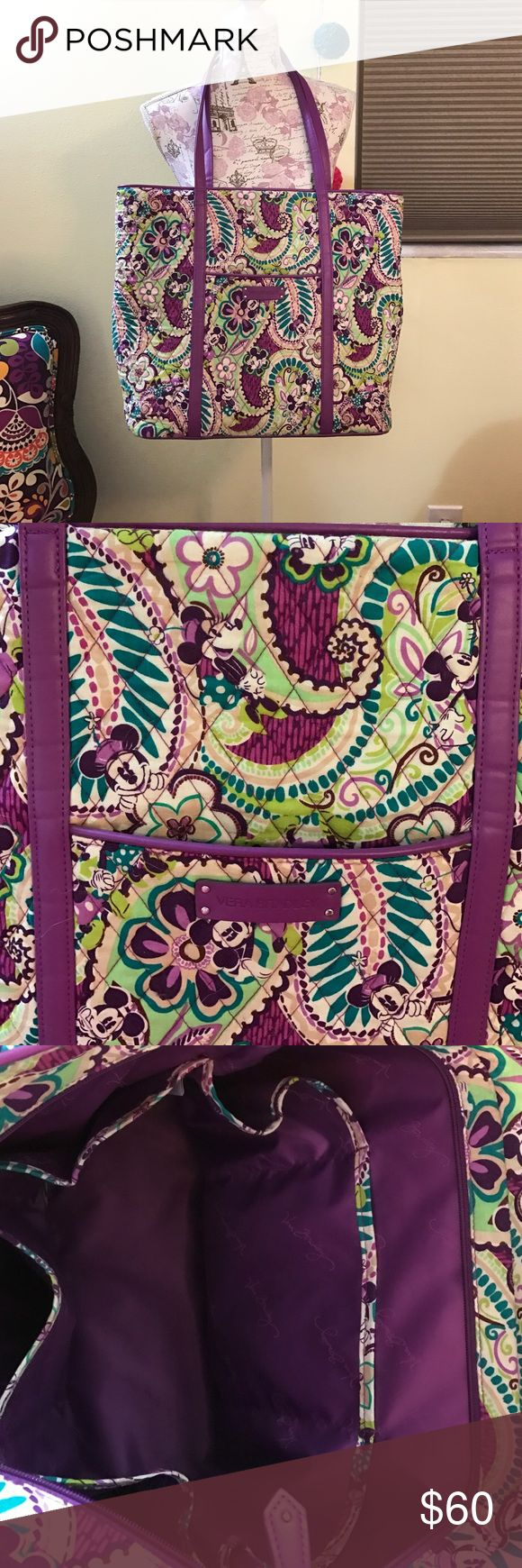 Disney Vera Bradley tote Disney vera Bradley tote. Used a few times. In amazing condition. Minnie mouse is hiding throughout the pattern. Very large plenty of space. Vera Bradley Bags Totes