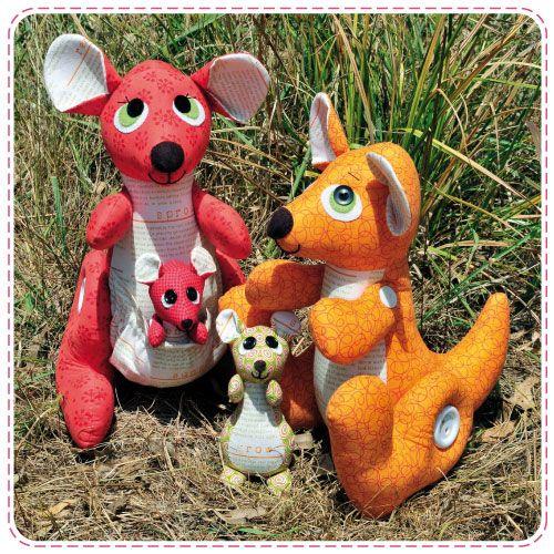 Kangaroo Family Softie Pattern... so cute!