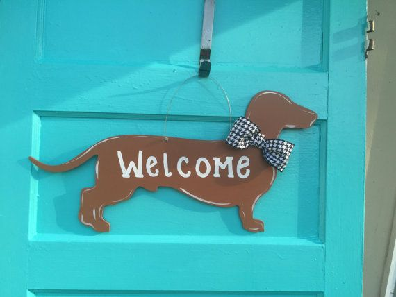 Teckel deur hanger Winnie hond deur hanger door Furnitureflipalabama