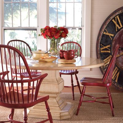 Somerset Bay Killington Dining Table. I am loving those Windsor chairs