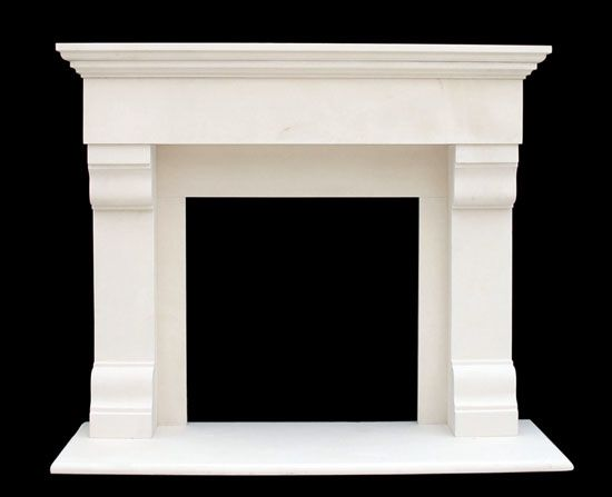 Winnetka Limestone Mantel | Traditional Fireplace Mantels    this is close to what I want...